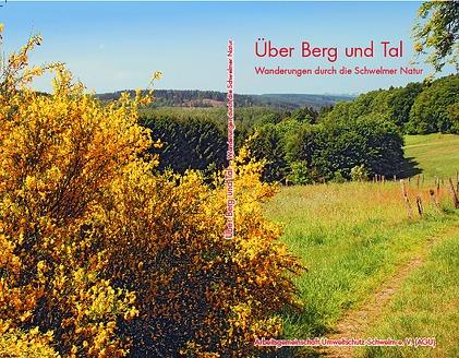 """Umschlag Wanderführer mit dem Titel: """" Über Berg und Tal - Wanderungen durch die Schwelmer Natur."""" © AGU Schwelm"""