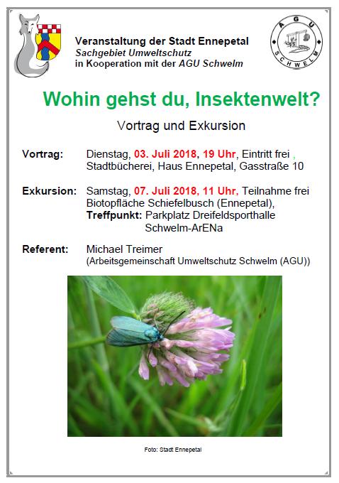 Insektenwelt eine Veranstaltung der Stadt Ennepetal und der AGU Schwelm