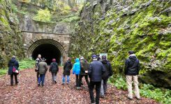 Besichtigung des stillgelegten Eisenbahntunnels in Schwelm