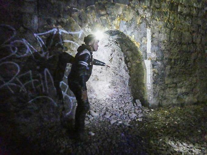 Erkundung des alten Bahntunnels in Schwelm